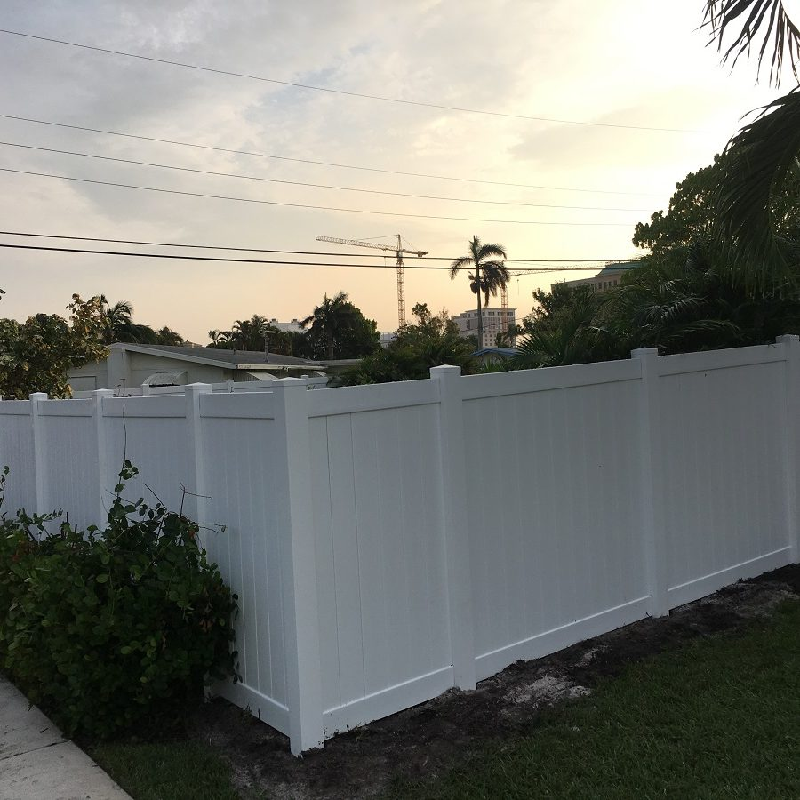 a residential fence company after they have installed a new fence in Texas